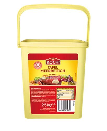 KOCHS Produkte Tafel-Meerrettich scharf 2-5kg-Eimer